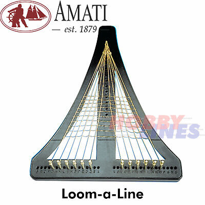 £15.95 • Buy LOOM-A-LINE Model Ship Sail Rigging Jig Makes Easier Correct Tension Amati 7380