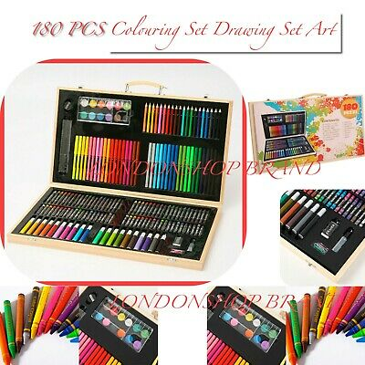 £13.49 • Buy Deluxe 180PCS Kids Colouring Drawing Art Set Case Pencils Painting Childrens UK