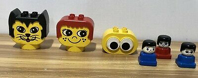AU40 • Buy LEGO DUPLO LARGE VINTAGE 1980s PRIMO HEADS AND SMALL BLOCK HEADS BULK LOT