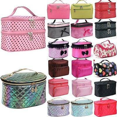 £6.29 • Buy Women Large Makeup Cosmetic Bag Case Toiletry Wash Organiser Storage Box Pouch﹣