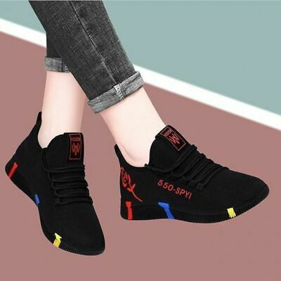 £21.54 • Buy Women's Shoes Air Mesh Cloth Shoes Wear-resistant Padded  Lace-up Canvas Shoes