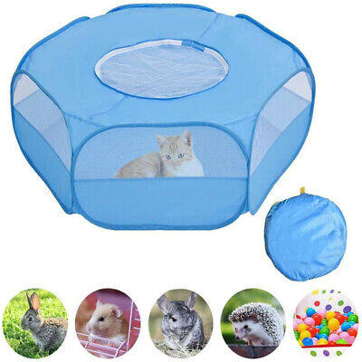 £12.75 • Buy Portable Small Animal Cage Tent Cat Rabbit Hamster Playpen Breathable Tent