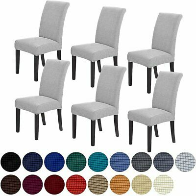 AU25.99 • Buy 1/4/6/8p Dining Chair Covers Jacquard Removable Slipcover Washable Banquet Event