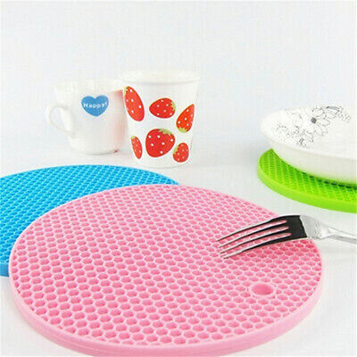 £3.99 • Buy Silicone Placemats Heat Resistant Non Slip Multi Purpose Table Insulation Mat UK