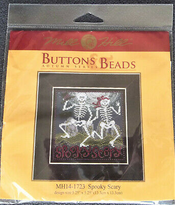 $12.99 • Buy Mill Hill Buttons/Beads - SPOOKY SCARY - Cross Stitch Kit - MH14-1723 Halloween