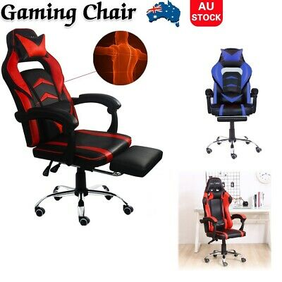 AU93 • Buy Gaming Chair Office Computer Leather Chairs Racer Executive Racing Seat Recliner