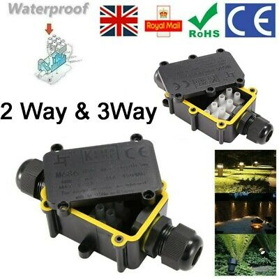 £5.98 • Buy Waterproof Junction Box Electrical Cable Connector Outdoor IP68 Underground