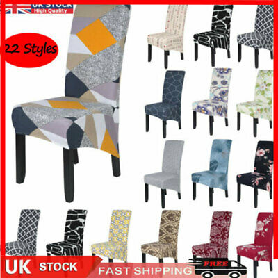 £3.99 • Buy Dining Chair Covers*Stretch High Back Seat Cover Protective Slipcover Decoration
