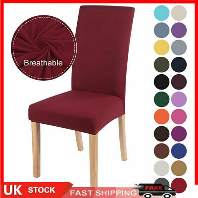 £3.19 • Buy Universal Stretch Elastic Dining Chair Covers Slipcover Party Room Seat Cover-UK