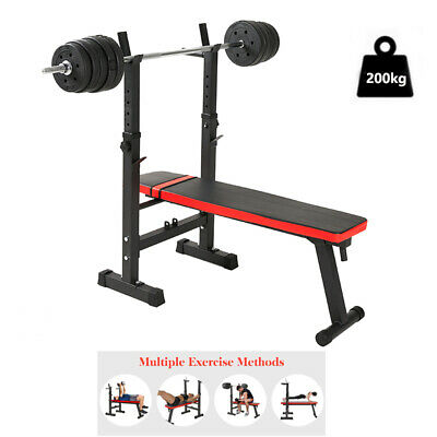 £63.19 • Buy Exersci Heavy Adjustable Folding Sit Up Weight Bench Barbell Workout Home Gym UK