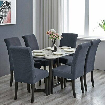 AU15.99 • Buy 8x High Stretch Dining Chair Cover Jacquard Slipcover Washable Protector Covers