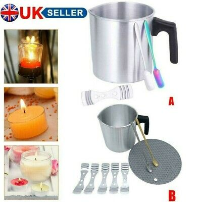 £13.23 • Buy Soy Candle Making Moulds Kit Wax Melt Pouring Pot Wicks Set DIY Craft Tools UK