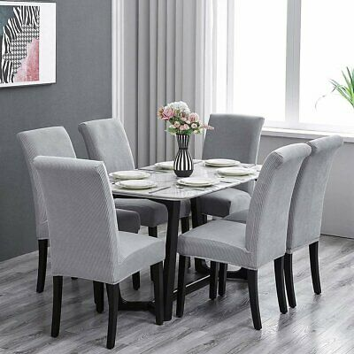 AU3.99 • Buy 4/6/8x Stretch Jacquard Dining Chair Covers Slip Covers Dining Room Chairs Cover