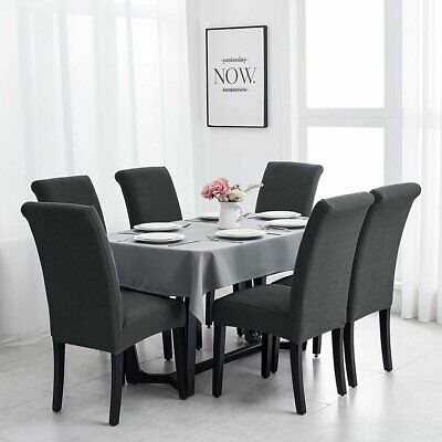 AU7.99 • Buy 1/4/6/8pcs Jacquard Dining Chair Covers Seat Spandex Stretch Slipcover Wedding