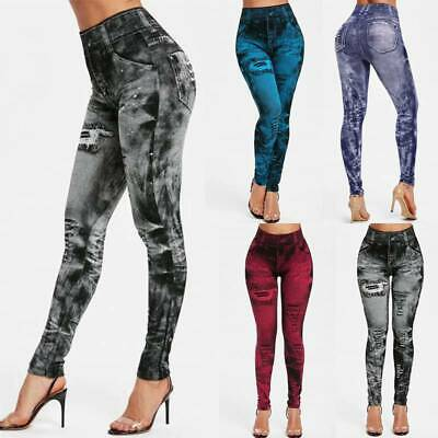 £6.19 • Buy Womens Ladies Stretchy High Waisted Sports Jeans Denim Jeggings Pants UK Size