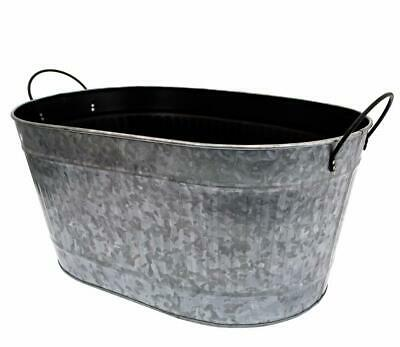 £27.89 • Buy Traditional Galvanised Metal Oval Flower Plant Planter Flower Pot Container