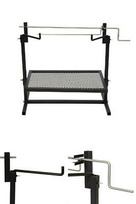 £40.83 • Buy Rotisserie Grill Outdoor Campfire Cooking Camping Equipment Kitchen Patio 24x16
