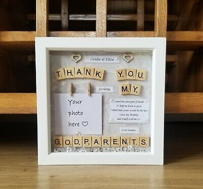 £30 • Buy Godmother Godparents Gift Frame Thank You For Being My Godparents Christening