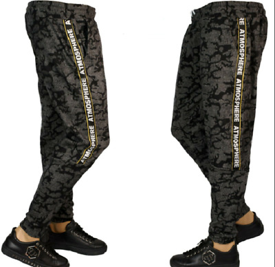 £19.99 • Buy Mens Camo-camouflage Tracksuit-jogging Gym Cargo Combat Trousers Bottoms Pants