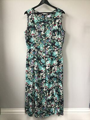 Gorgeous Ladies Brora Patterned Long Dress, UK Size 14, Good Condition • 24.99£