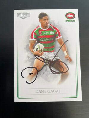 AU9 • Buy Dane Gagai Signed South Sydney Rabbitohs NRL 2019 Elite Card 103 Rugby League