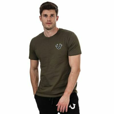 Men's True Religion Buddha Logo Regular Fit Cotton T-Shirt In Green • 28.94£