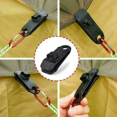 1-10 Reusable Tent Tarp Tarpaulin Clips Clamps Buckle Camping Tool Heavy Duty UK • 6.99£
