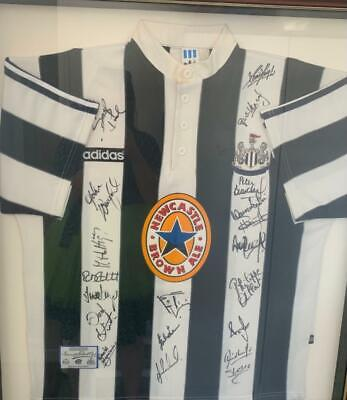 AU2100 • Buy Newcastle United Signed And Framed Jersey