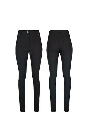 £11 • Buy Girls High Waisted Black School Trousers Womens UK Stretch Skinny Fit Pants New