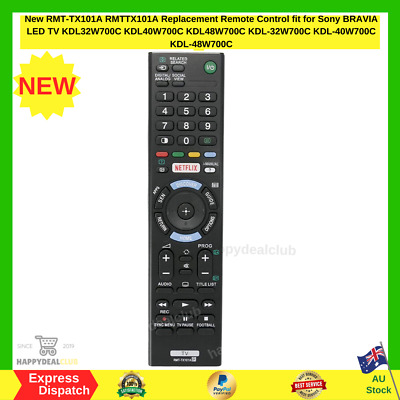AU18.95 • Buy New RMT-TX101A Replacement Remote Control Fit For Sony BRAVIA LED TV KDL32W700C