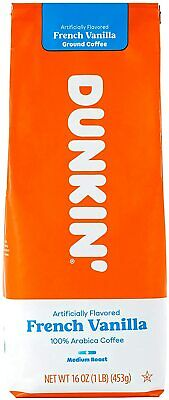 £17.09 • Buy Dunkin' Donuts French Vanilla Ground Coffee, 453 G Free Delivery