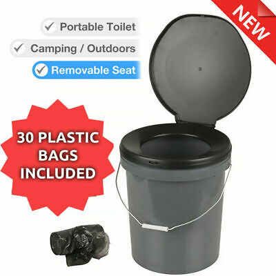 AU35.98 • Buy 20L Toilet BUCKET Portable Outdoor Box Thunder Boom Travel Camping With Bags