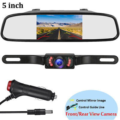 AU49.40 • Buy 5  Mirror Monitor Car Reverse Camera Rear View Parking System 9LED Night Vision