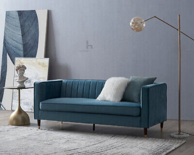 £259.99 • Buy Velvet Fabric Sofa 1, 2 Or 3 Seater Modern Couch Suite Set
