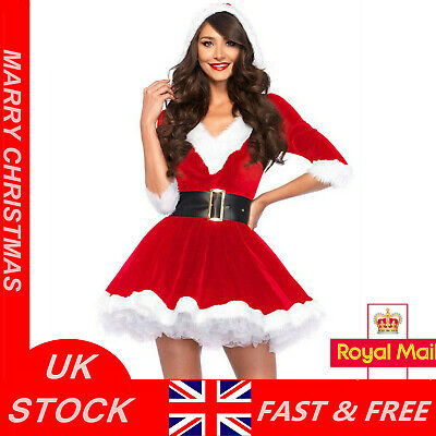 £17.99 • Buy Mrs Santa Claus Christmas Fancy Dress Xmas Ladies Womens Adults Costume Outfit