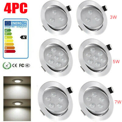 £15.18 • Buy 4PC Recessed Ceiling Spotlight Downlights LED IP65 Fire Rated Bathroom Spots