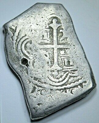 AU419.30 • Buy 1600s Holed Mexico Silver 8 Reales Antique Old Spanish Colonial Dollar Cob Coin