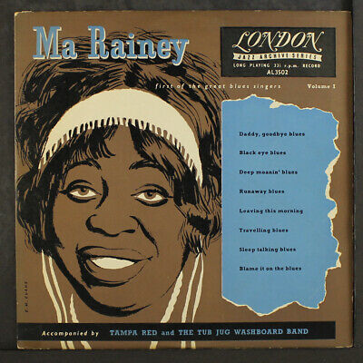$40 • Buy MA RAINEY: First Of The Great Blues Singers, Vol. 1 LONDON 10  LP 33 RPM