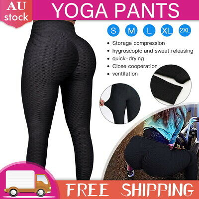 AU15 • Buy Womens Yoga Pants Butt Lift Leggings Sports Gym Fitness Anti Cellulite Trousers