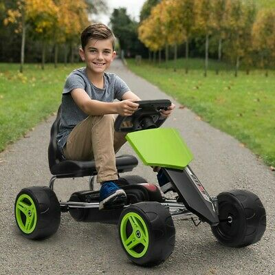£68.58 • Buy Go Kart Kids Childrens Pedal Ride On Car Racing Toy Rubber Tyres Wheels 4-8 Year