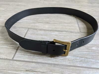 $29.95 • Buy Mens COACH Black Leather Belt 38 Style 3896 Made In ITALY