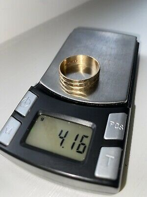 AU117.66 • Buy 9CT GOLD BAND RING FULLY HALLMARKED 4.1g SIZE U NOT SCRAP