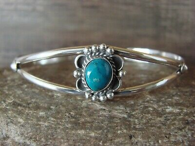 £43.25 • Buy Small Navajo Indian Jewelry Turquoise Sterling Silver Bracelet - Mariano