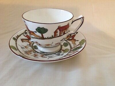 £29.99 • Buy Crown Staffordshire Hunting Scene Cup & Saucer Excellent Used Condition First