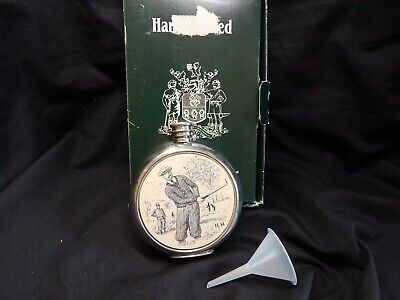 £9 • Buy Sheffield Pewter Golf Hip Flask  Boxed