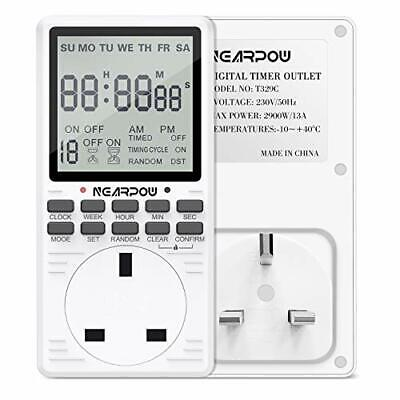 £26.60 • Buy Digital Electrical Timer NEARPOW Electrical Programmable Timer Switch For 24
