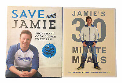 AU35 • Buy Jamie Oliver Cookbooks 30 Minute Meals & Save With Jamie Hardcover Free Shipping
