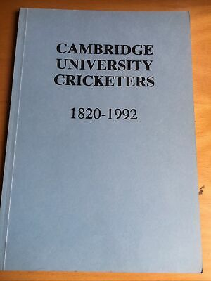 Cambridge University Cricketers 1820 -1992 Association Of Cricket Statisticians  • 1£