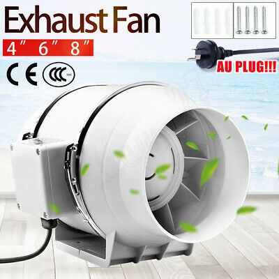 AU63.99 • Buy 4/6/8  Inch Silent Extractor Fan Duct Hydroponic Inline Exhaust Vent Industrial