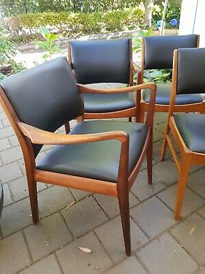 AU1 • Buy Dining Chairs 8 Including 2 Carvers          MCM TH Brown$2600